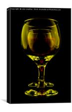 Two Wine Glasses, Canvas Print