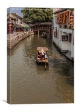 Zhujiajiao Ancient Water Town, Canvas Print