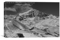 Yamdrok Lake Mountains Tibet, Canvas Print