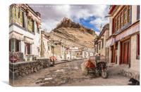 Gyantse Sidestreet, Tibet, Canvas Print