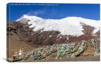 Karola Glacier in Tibet, Canvas Print