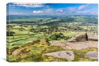 Derbyshire Landscape - Curbar Edge, Canvas Print