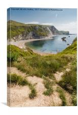 Man of War Bay Dorset, Canvas Print