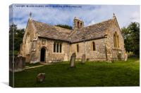 Twyneham Village Church, Dorset, Canvas Print