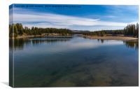 Fishing Bridge over the Yellowstone River, Canvas Print