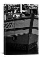 At Milford Docks, Canvas Print
