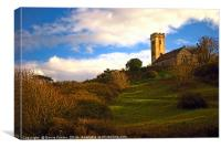 The Church of St James, Manorbier, Canvas Print
