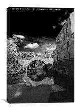 Blackpool Mill, Blackpool Bridge & The Knights Way, Canvas Print
