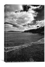 The Beach at Cwm yr Eglwys, Canvas Print