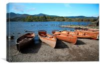 A windy evening at Keswick., Canvas Print