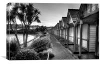 Langland Bay chalets Gower, Canvas Print