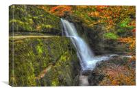 Autumn waterfalls, Canvas Print