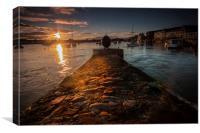 Dungarvan Harbour Eire, Canvas Print