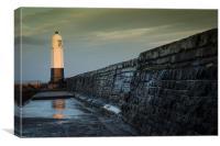 Porthcawl lighthouse, Canvas Print