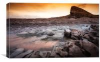 Heritage coast sunset, Canvas Print
