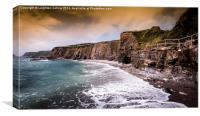 Cornish coast, Canvas Print
