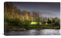 Brecon Beacons and river Usk, Canvas Print