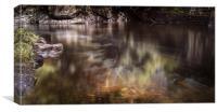 Abstract river flow, Canvas Print