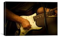 Black Fender Stratocaster, Canvas Print