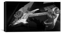 Battered old Fender Stratocaster, Canvas Print