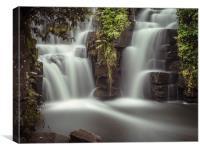 Penllergaer falls Swansea, Canvas Print