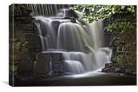 River Clydach waterfalls in HDR, Canvas Print