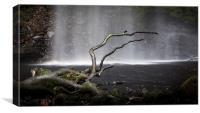 Henrhyd Falls Sgwd Henrhyd south Wales, Canvas Print