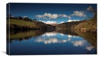 Lower Lliw valley reservoir, Canvas Print