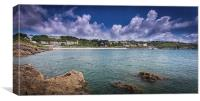 Langland and Rotherslade bays, Canvas Print