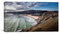 Three Cliffs Bay Gower, Canvas Print
