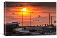 Sunset at Porthcawl, Canvas Print