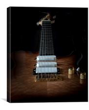 Electric six string guitar , Canvas Print