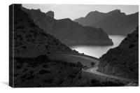 Road to Cap de Formentor, Canvas Print