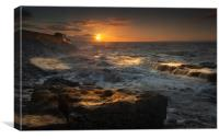 Porthcawl sunrise, Canvas Print