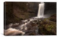 Henrhyd Falls South Wales AKA The Batcave, Canvas Print