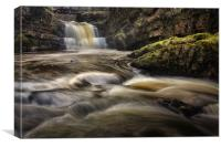 Dinas Rock Waterfalls, Canvas Print
