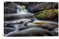 Dreamy Sgydau Sychryd Waterfalls, Canvas Print