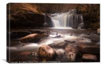 Blaen y Glyn Waterfalls, Canvas Print