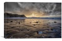 Thunder at Rhossili Bay, Canvas Print