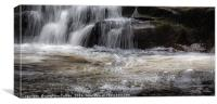 Waterfall and bubbles, Canvas Print