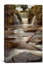 Waterfalls at Penllergare woods, Canvas Print