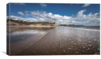 Low tide at the Great Tor, Canvas Print
