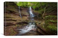 Pwll y Wrach waterfalls , Canvas Print