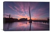 Early morning on the River Tawe, Canvas Print