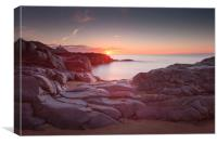 Sunrise over Bracelet Bay, Canvas Print