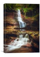 Pwll y Wrach Waterfalls, Canvas Print