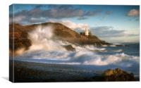 Storm Doris hits Bracelet Bay, Canvas Print