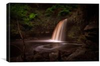 Lady Falls Sgwd Gwladus waterfall, Canvas Print