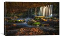 Sgwd Ddwli Uchaf waterfalls South Wales, Canvas Print
