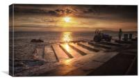 Lifeboat launch at Aberavon, Canvas Print